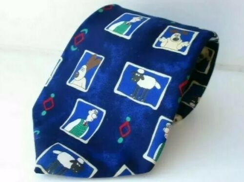 Wallace And Gromit Navy Blue Men's Tie - St.Michael M&S