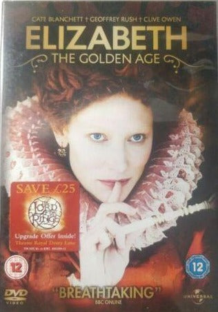 Elizabeth The Golden Age  2008 Cate Blanchett DVD