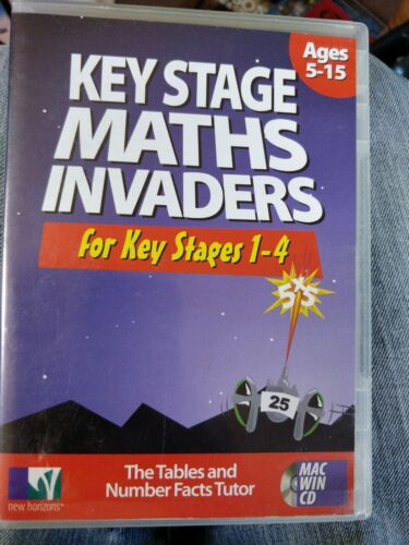 Key stage 1-4 maths invaders for ages 5 to 15 mac win cd cart 28