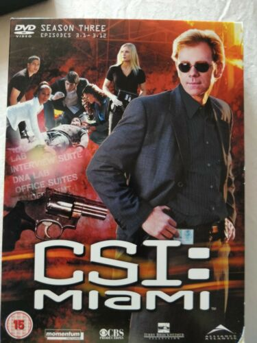 CSI Miami: Season 3 - Part 1 DVD ) David Caruso EPISODES 1-12