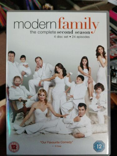 Modern Family. The Complete Second Season DVD 4 disc set  contains 24 episodes