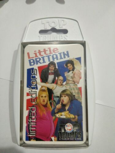 Little Britain Top Trumps Limited Editions Card Game Condition good