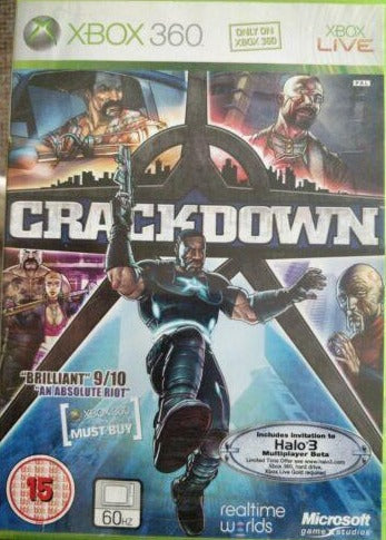 Crackdown Microsoft Xbox 360 15+ Action Game  with manual