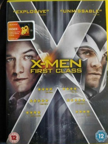 X Men First Class cert 12 region 2 DVD