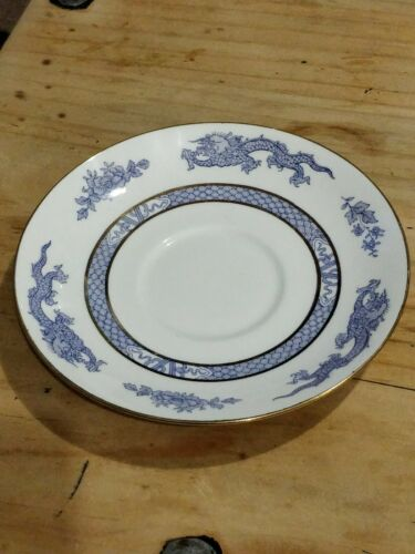 Booths silicon china blue and white dragon 9.5inch dinner plate