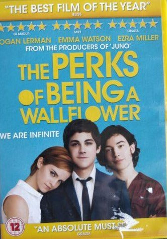 The Perks Of Being A Wallflower DVD cert 12 region 2