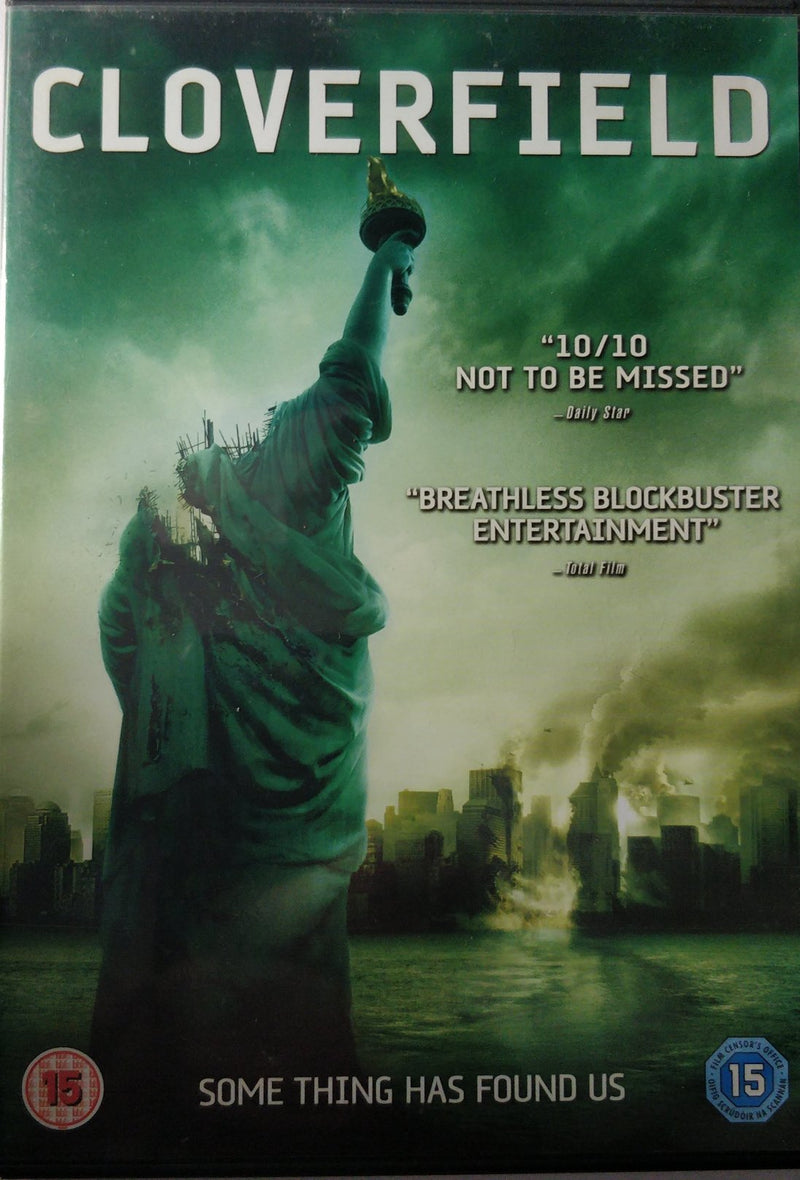 CloverField DVD cert 15 region 2