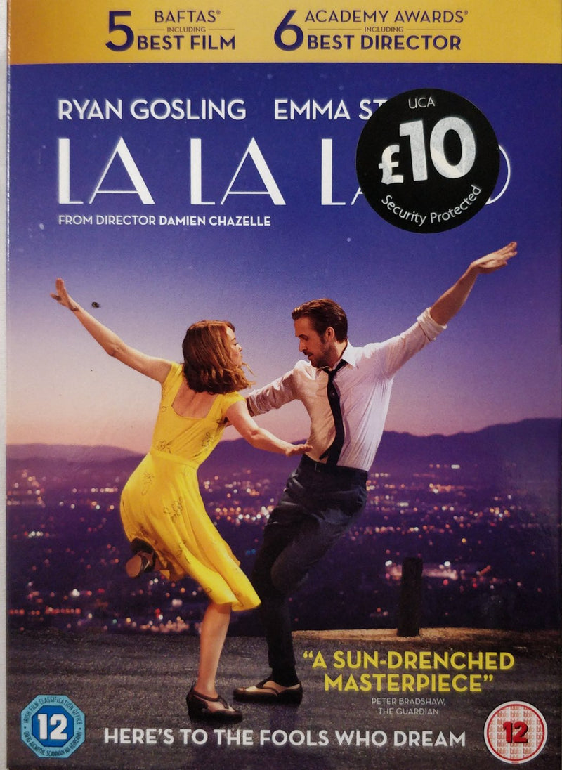 La la land DVD cert 12 region 2