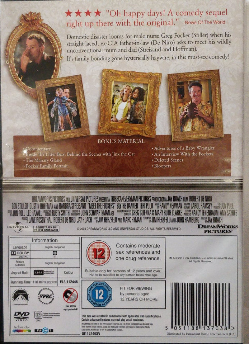 Meet the fockers DVD cert 12 region 2