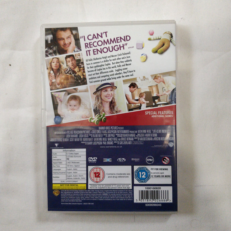 Life as we know it DVD cert 12 region 2