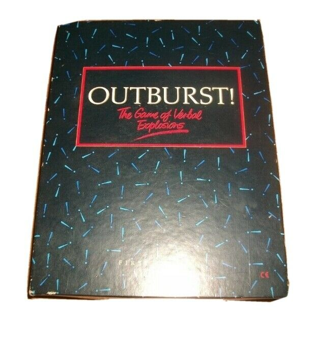 Outburst Board Game The Game of Verbal Explosions First Edition Parker