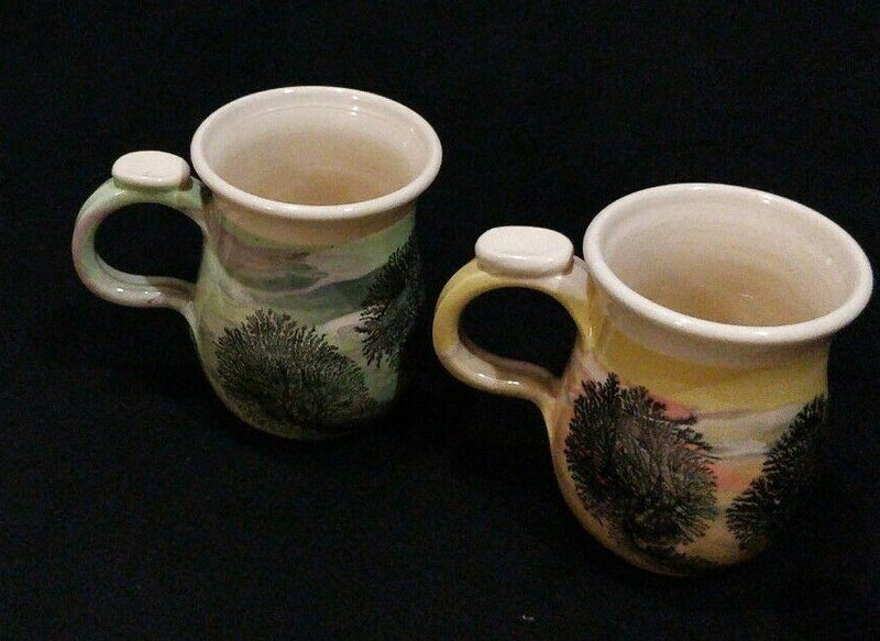 4 Irving Pottery Mugs Cup