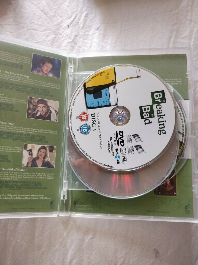 Breaking Bad Series 1 Complete DVD cert 18 region 2  3Disc Set Box Set