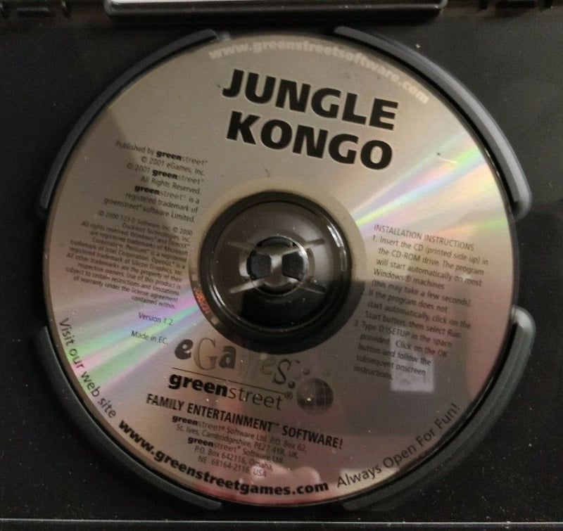 Jungle Kongo PC Adventure Game 21 Levels of Action-packed Adventure