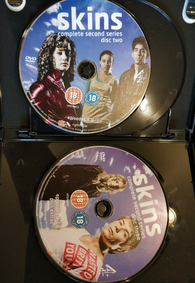 Skins Series 2 DVD cert 18 region 2