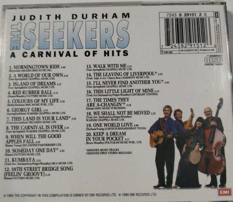 A Carnival of Hits, Music CD