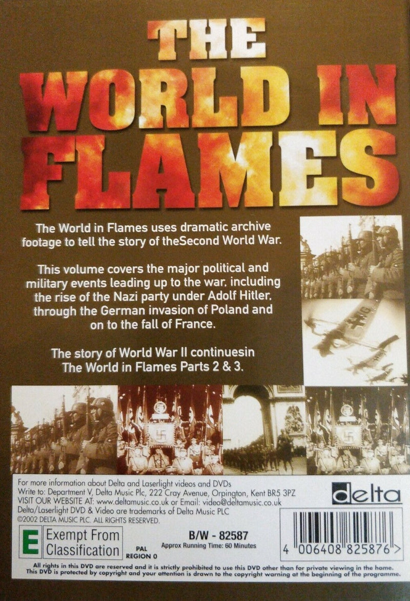 The world in flames DVD region 2 The Story of WWII Volume 1
