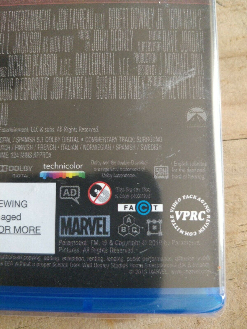 Iron Man 2  Blu-Ray cert 12