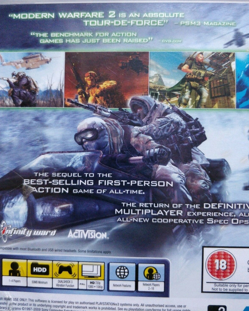 Call of Duty Modern Warfare 2 Sony PlayStation 3 PS3