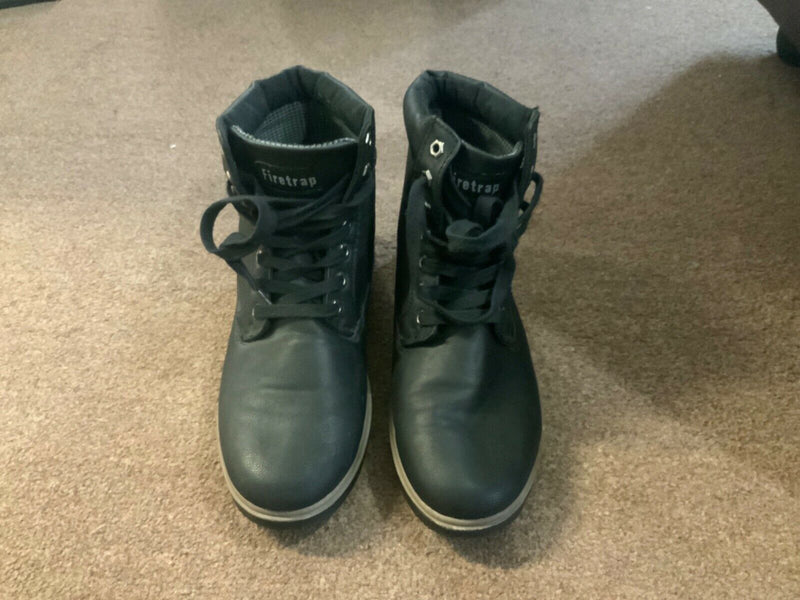 Firetrap Mens Smart Ankle Boots Lace Up Leather Upper Shoes 8Uk