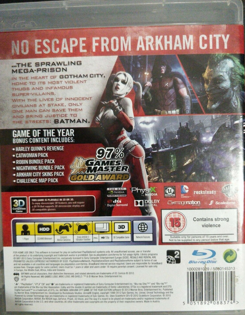 Batman Arkham City Game of the Year Edition PS3 Game