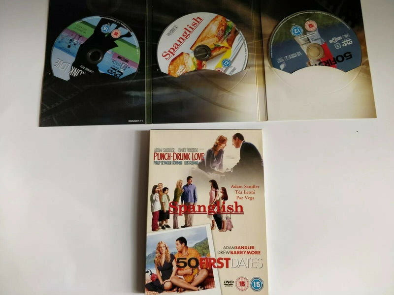 50 First Dates Punch-Drunk Love Spanglish DVD cert 15 region 2 3-Disc Set