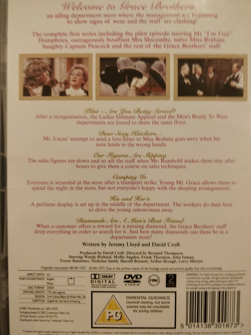 Are You Being Served? Series 1 DVD Frank Thornton Wendy Richard John Inman