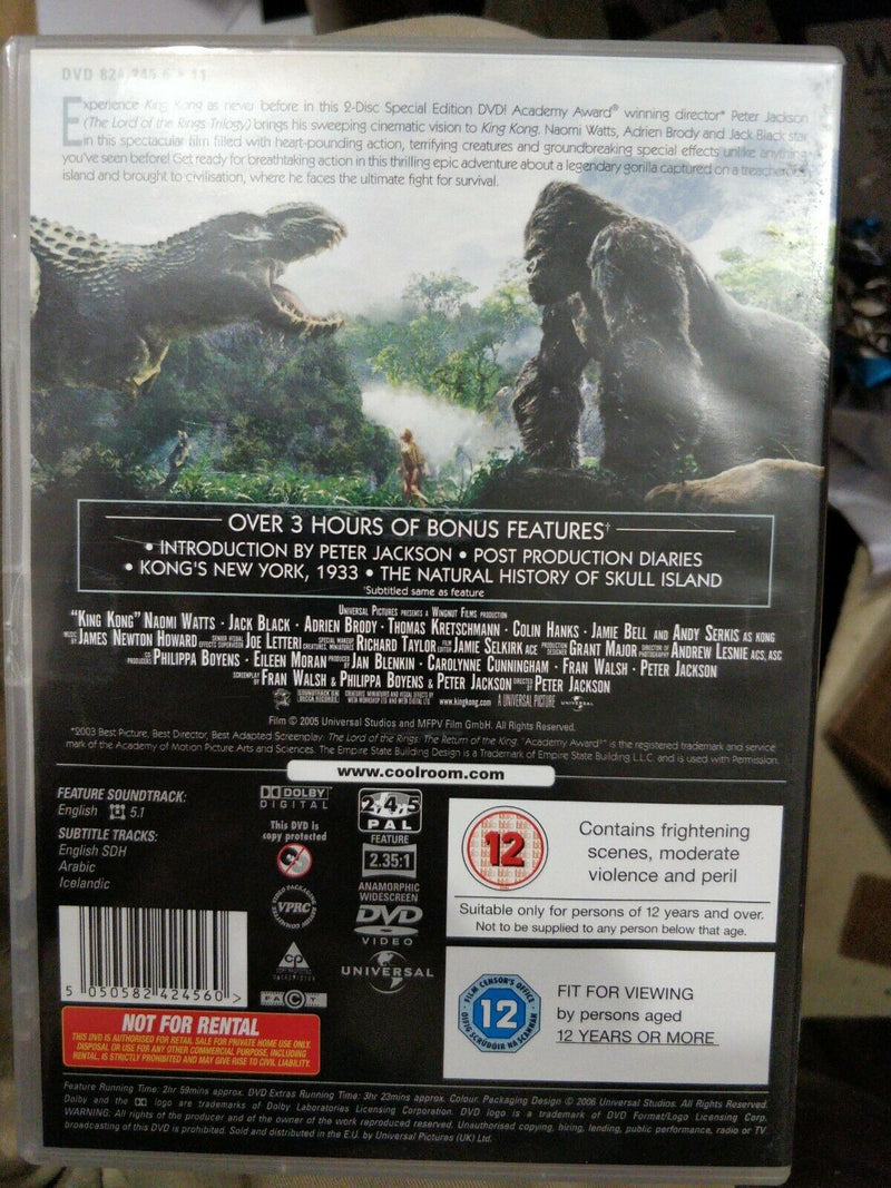 BNWT Universal King Kong 2 Disk Edition DVD Region 2 4 and 5 CS327