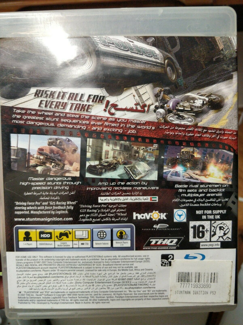 Stuntman: Ignition (Sony PlayStation 3 - PS3 game