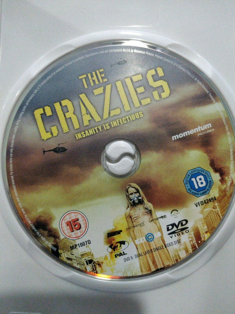 The Crazies DVD cert 18 region 2