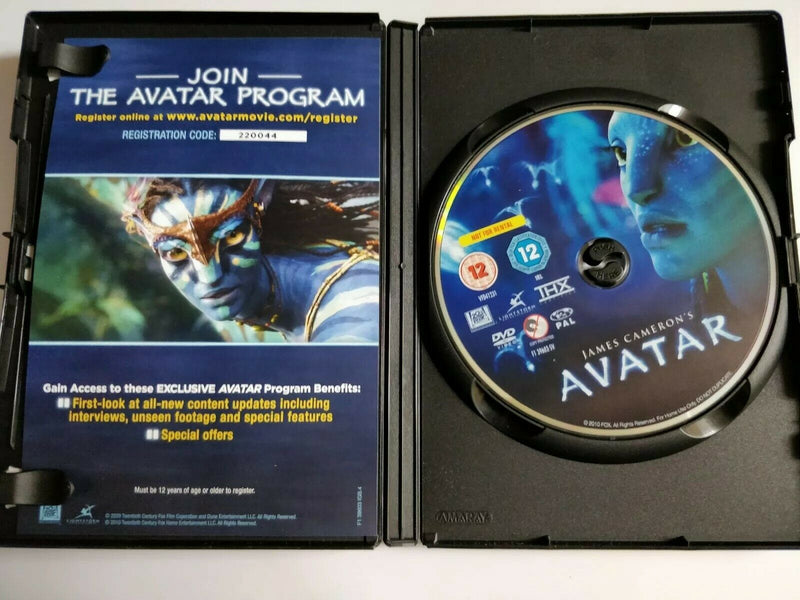 Avatar DVD cert 12 region 2