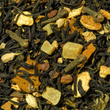 A natural blend of black tea, mango, turmeric (curcuma) & spices with a unique chai quality. Fruity mango pieces combined with ginger, cinnamon and turmeric give this spicy black tea the exotic flair.  Contains: Black tea (37 %), mango bits (mango, sugar, citric acid (acidifier)), ginger, citrus peels, aniseed, cinnamon, mango bits with rice flour (separating agent), natural flavour, curcuma powder, cloves