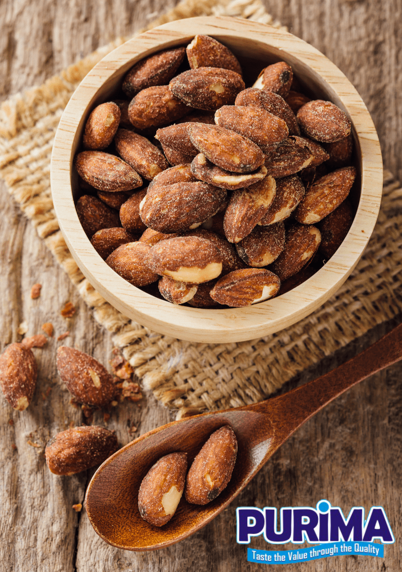 Roasted and Salted Almonds - Smoked - PURIMA