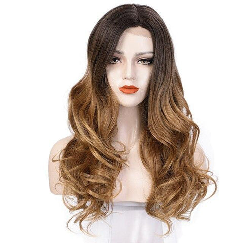 Perruque<br> Cheveux Long Brun