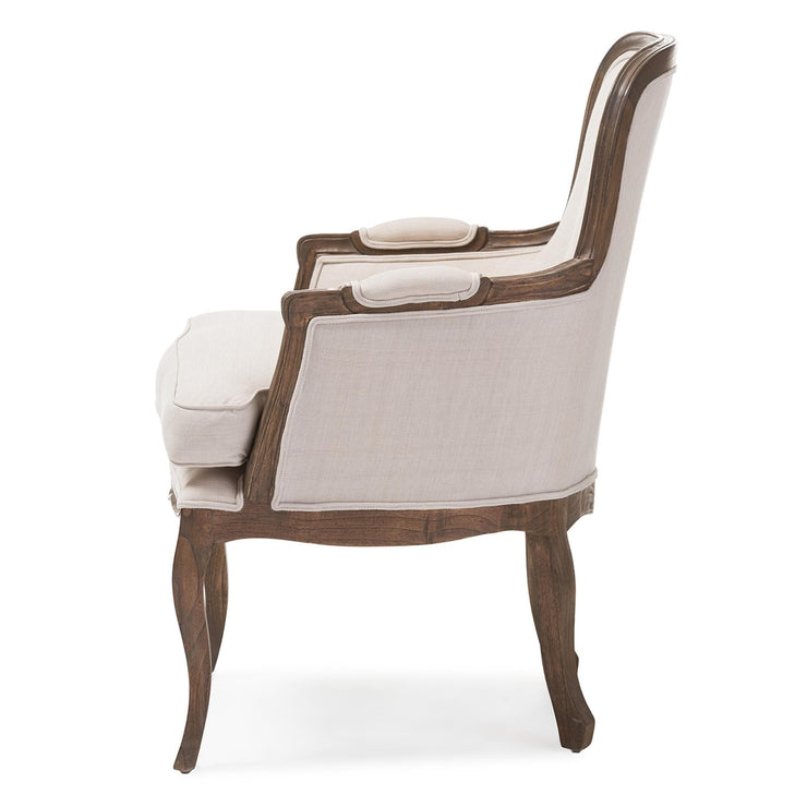 Baxton Studio Napoleon Traditional French Accent Chair-Ash