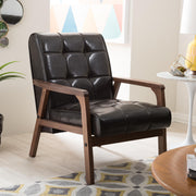 Baxton Studio Mid-Century Masterpieces Club Chair-Brown
