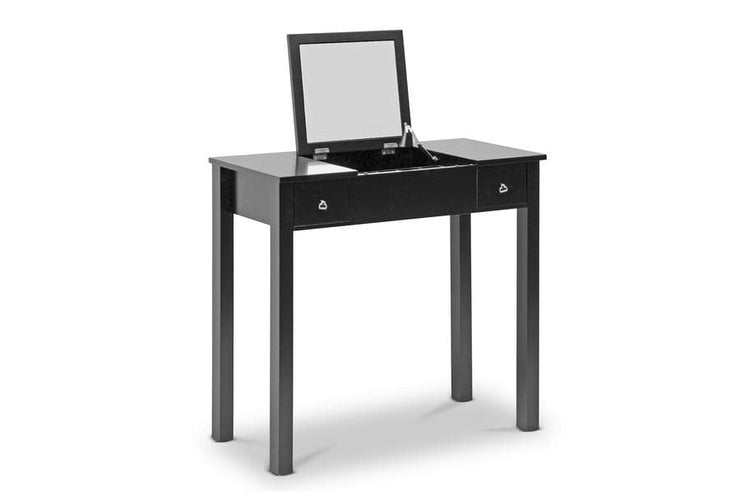 Baxton Studio Black Wessex Vanity Table