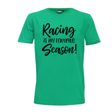 "Load image into Gallery viewer, ""Racing is my Favourite Season"" Mens T-Shirt"