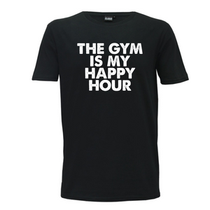 """The Gym Is My Happy Hour"" Mens T_Shirt"