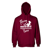 "Load image into Gallery viewer, ""Racing Makes My Engine Purrr"" Unisex Hoodie"