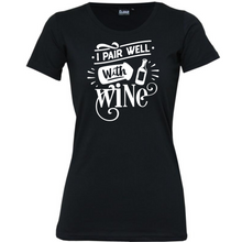 Load image into Gallery viewer, I Pair Well With Wine - Woman's T-Shirt