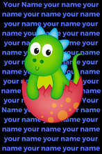 Load image into Gallery viewer, Personalised Dinosaur Blue Super Soft Fleece Blanket