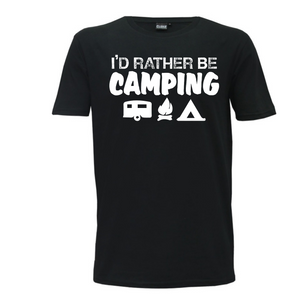 """I'd Rather Be Camping"" Mens T-Shirt"