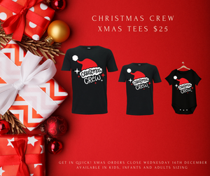 "Matching Family ""Christmas Crew""  T-shirt or Onesie"