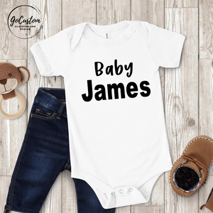 Personalised Pregnancy Announcement Onesie
