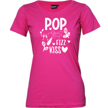 Load image into Gallery viewer, Pop Fizz Kiss - Woman's T-Shirt Wedding