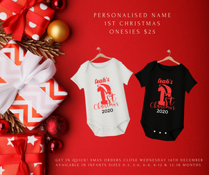 Personalised 'my first Christmas'  onesie