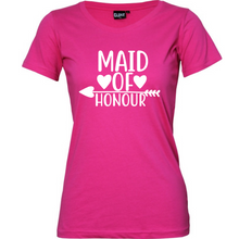 Load image into Gallery viewer, Maid Of Honour - Woman's T-Shirt Wedding