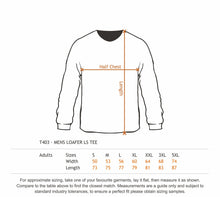Load image into Gallery viewer, MENS LONG SLEEVE LOAFER TEE - 100% 220gsm Cotton - Your Custom Design Printed