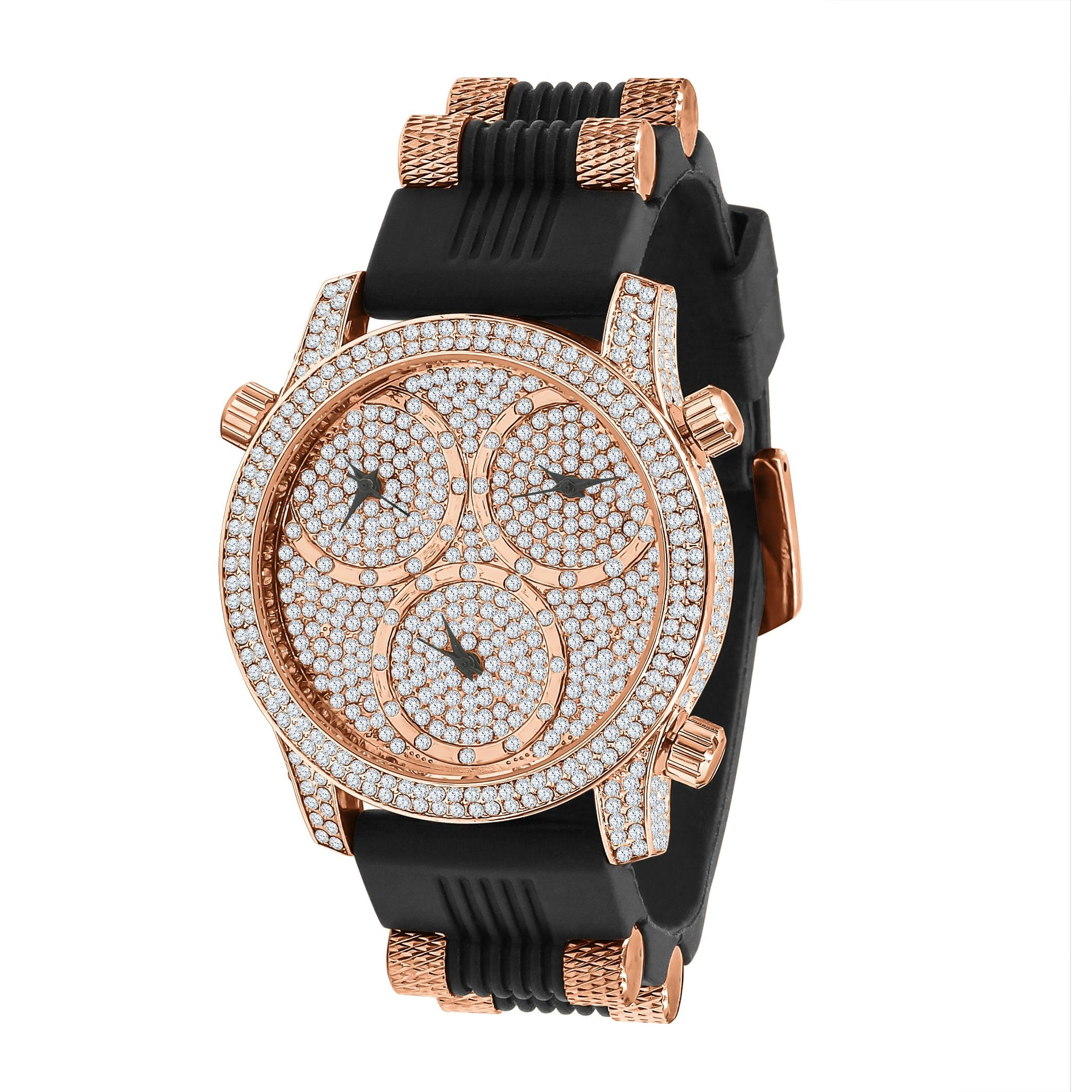 Ice Master Bling Leather Watch